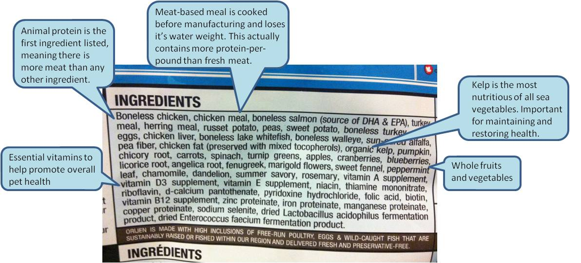 Orijens Dog Food Ingredients In Good Hands
